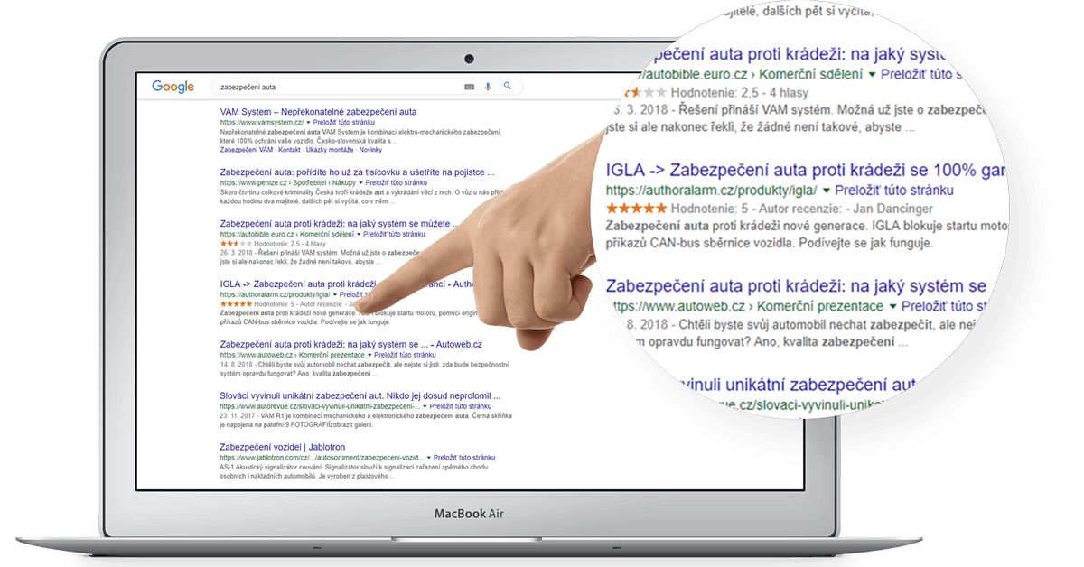 Optimalizace pro vyhledávače