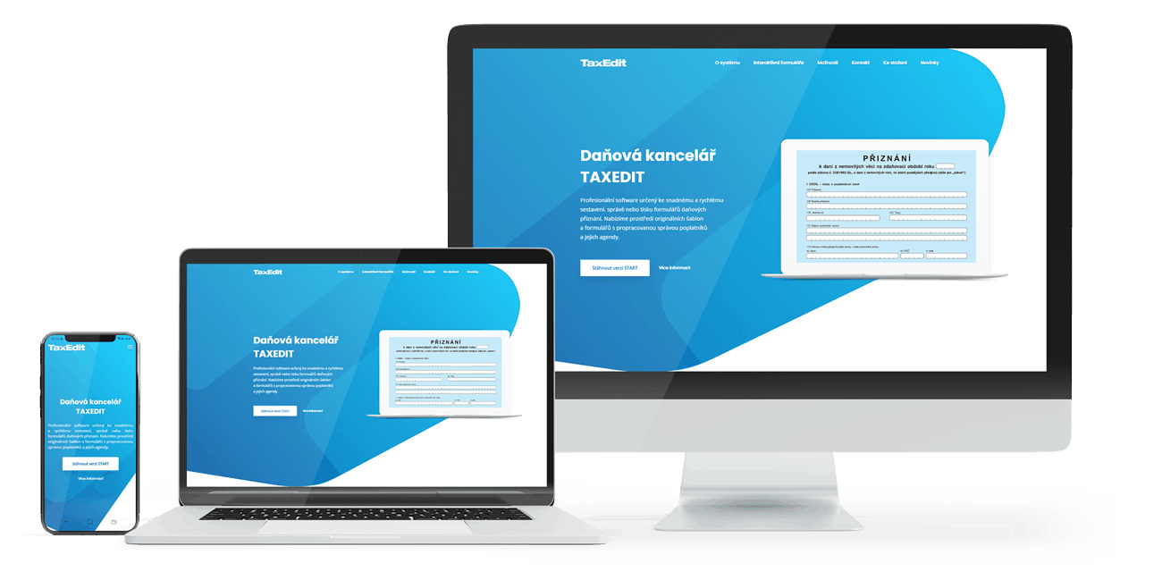 Redesign webu responzivní zobrazení