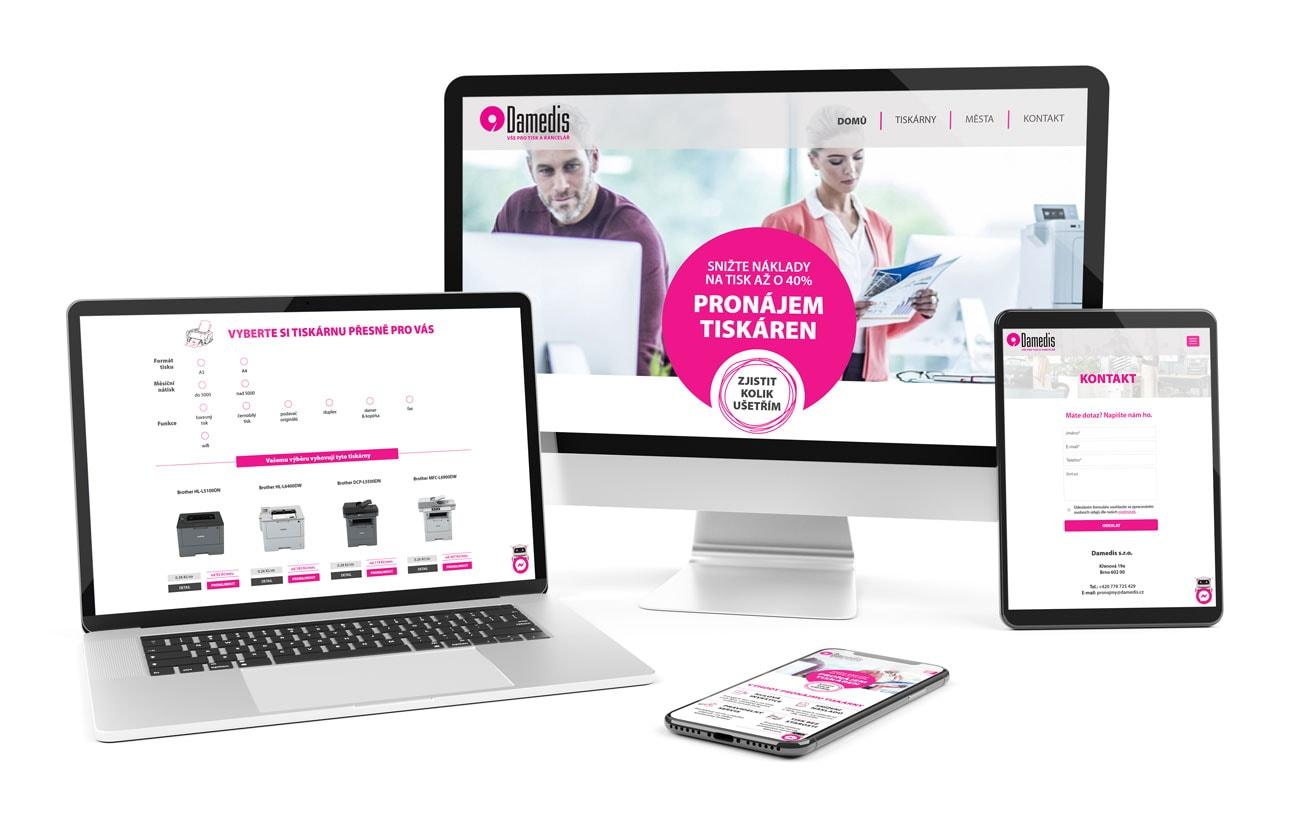 B2B marketing responzivní web